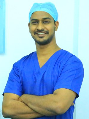 Dr. P. Vishal Goud (MBBS,Master course in HAIR TRANSPLANTATION FROM INDO-GERMAN BOARD ) Is the Consultant Hair Transplant surgeon - Microsurg-4 Cosmetic Clinic
